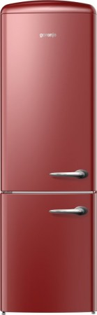 Gorenje Stand-Kühl-/Gefrier-Kombination Links Burgundy ORK193RL